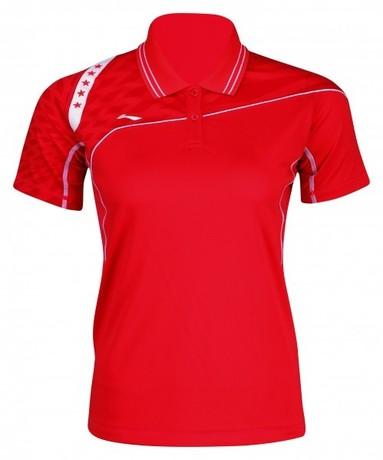 AAYJ036-1 Polo-Shirt Team Women Red XS
