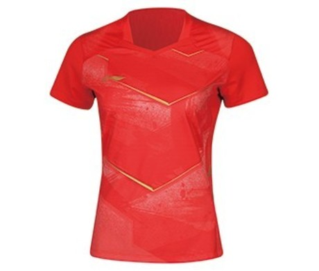 AAYN086-3 Damen Tischtennis Trikot China Nat. Team rot S