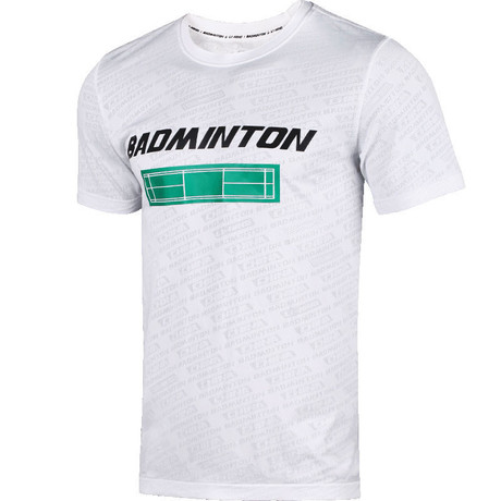AHSP697-2 Badminton Culture Shirt White UNISEX M