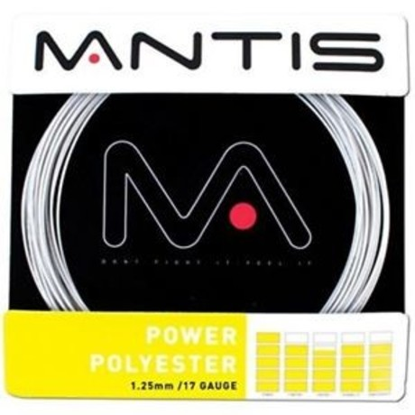 MATSS003 Mantis Tennis String Power Polyester 17G 12m Set silver