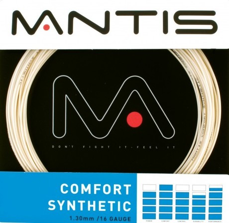 MATSS002 Mantis Tennis String Comfort Synthetic 16G 12m Set natural