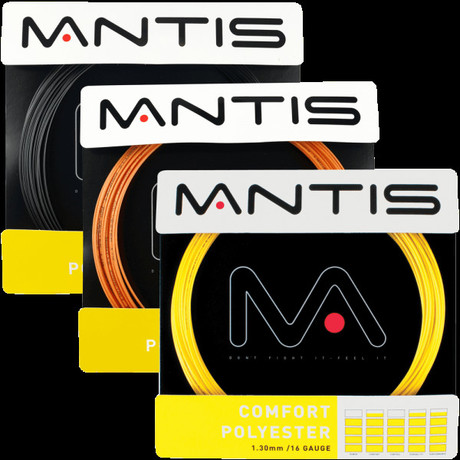 MATSS004O Mantis Tennis String Comfort Polyester 16G 12m Set orange