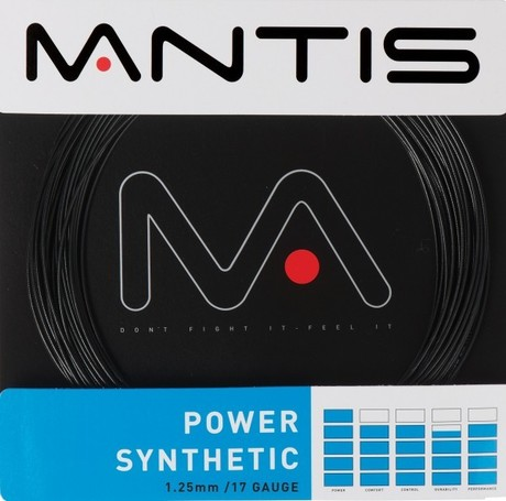 MATSS005 Mantis Tennis String Power Synthetic 17G 12m Set black