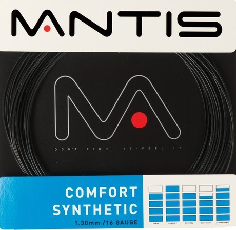 MATSS006 Mantis Tennis String Comfort Synthetic 16G 12m Set black